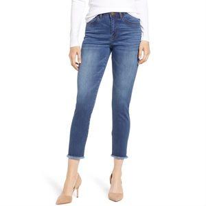 Wit & Wisdom High Waist Fray Seamless Skinny Jeans